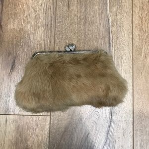 Besso Bags - Besso Tan Rabbit Fur Clutch 4991baec4f42f